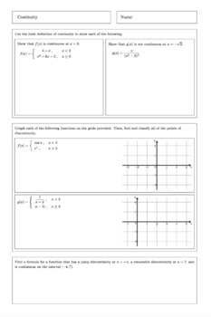 AP Calculus: Continuity Complete Lesson