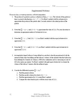 AP Calculus: Euler's Method Lesson