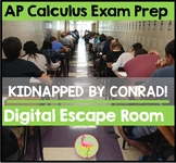 AP Calculus Exam Prep Digital Escape Room Distance Learning