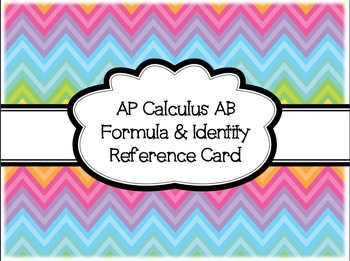 AP Calculus Formula & Identity Reference Card
