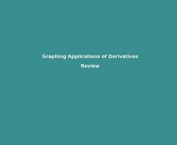 AP Calculus - Graphing Applications of Derivatives & Parti