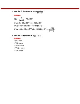 CALCULUS: VELOCITY, ACCELERATION, JERK AND OTHER HIGHER ORDER DERIVATIVES