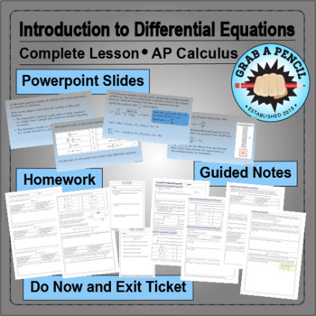 AP Calculus: Introduction to Differential Equations Complete Lesson