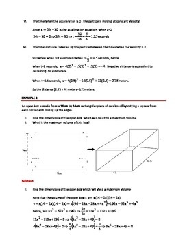 INTRODUCTION TO DERIVATIVES & ANTIDERIVATIVES