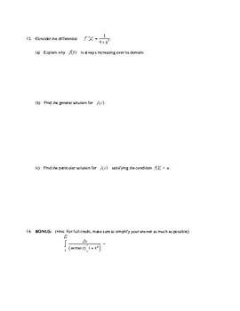 AP Calculus: Inverse Trig Test