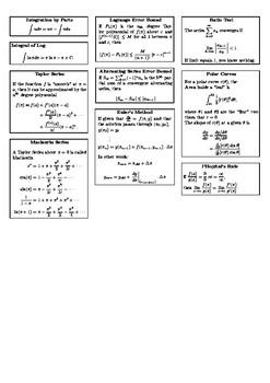 AP Calculus Know Cold