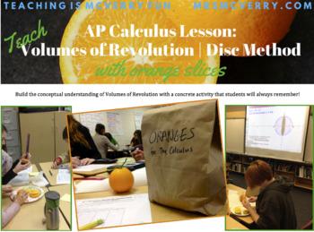 AP Calculus Lessons: Volumes of Revolution BUNDLE