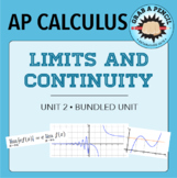 AP Calculus: Limits and Continuity Unit Bundle