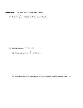AP Calculus: Logs & e Test