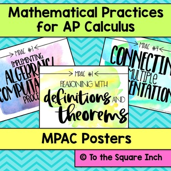 AP Calculus Mathematical Practices Posters