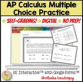 AP Calculus Exam Multiple Choice Practice for Google Forms