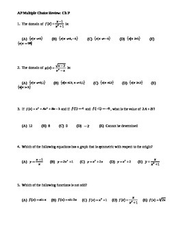 AP Calculus: Multiple Choice Prerequisites Review