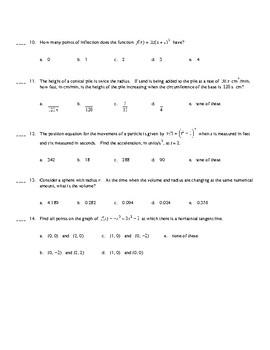 AP Calculus Multiple Choice Review
