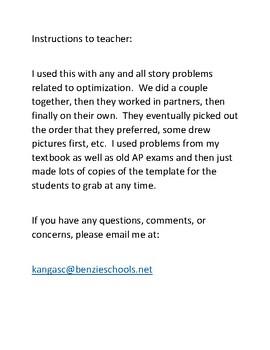 AP Calculus - Optimization Problems