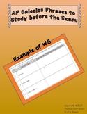 AP Calculus Phrases to Study