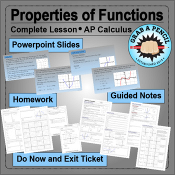AP Calculus: Properties of Functions Complete Lesson
