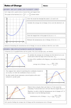 AP Calculus: Rates of Change Complete Lesson
