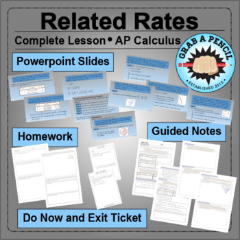 AP Calculus: Related Rates Complete Lesson