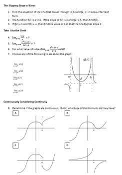 AP Calculus Spin the Calc Game - Limit, Derivative, Integral Review