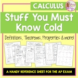 Calculus Stuff You Must Know Cold