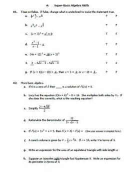 AP Calculus Summer Work Packet