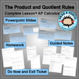AP Calculus: The Product and Quotient Rules Complete Lesson