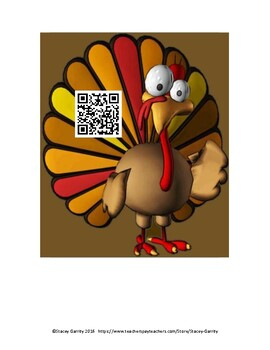 AP Calculus Turkey Trot - Limits, Derivatives Scavenger Hunt Project