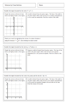AP Calculus: Volumes by Cross Sections Complete Lesson