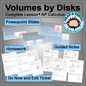AP Calculus: Volumes by Disks Complete Lesson