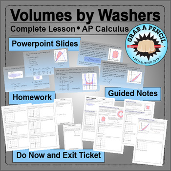 AP Calculus: Volumes by Washers Complete Lesson