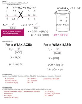 AP Chemistry Acids & Bases Guided Notes for Powerpoint (with ANSWERS)