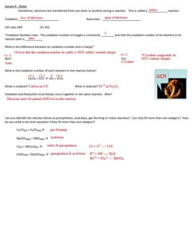 AP Chemistry Aqueous Solutions Guided Notes to go with Powerpoint (includes KEY)