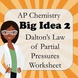 AP Chemistry Big Idea 2 Worksheet: Dalton's Law of Partial