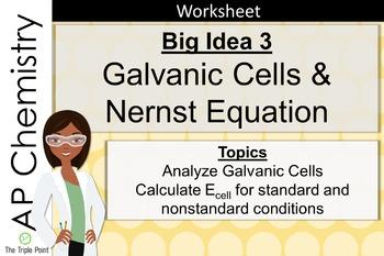 AP Chemistry Big Idea 3 Worksheet: Galvanic Cells and Nern