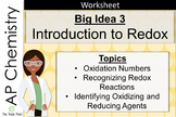 AP Chemistry Big Idea 3 Worksheet: Introduction to Redox Reactions