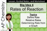 AP Chemistry Big Idea 4:  Rates of Reaction Lesson, Notes,