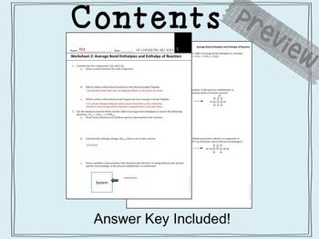 AP Chemistry Big Idea 5 Worksheet: Calculating ΔH Using Bond Enthalpies