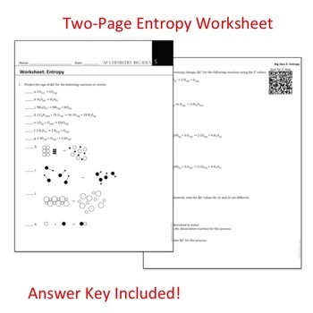 Ap Chemistry Big Idea 5 Worksheet Entropy S By The Triple Point
