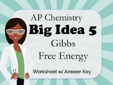 AP Chemistry Big Idea 5 Worksheet: Gibbs Free Energy (ΔG)
