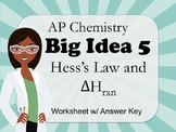 AP Chemistry Big Idea 5 Worksheet: Hess's Law (ΔH)