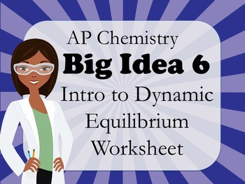 AP Chemistry Big Idea 6 Worksheet: Intro to Dynamic Equilibrium
