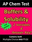 AP Chemistry Buffers & Solubility Test