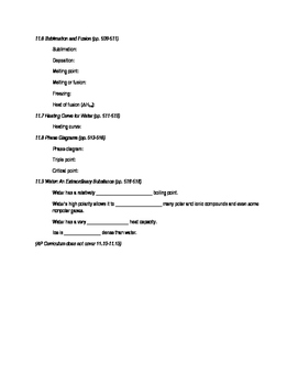 AP Chemistry Chapter 11 Reading Guide for Tro, A Molecular Approach, 3rd edition