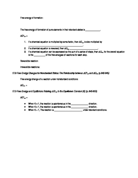 AP Chemistry Chapter 17 Reading Guide for Tro, A Molecular Approach, 3rd edition