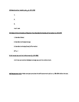 AP Chemistry, Chapter 6 Reading Guide for Tro, A Molecular Approach 3e