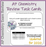 AP Chemistry Review Task Cards by Unit - updated for 2020 CED
