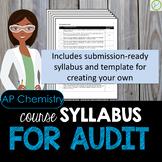 AP Chemistry Course Syllabus for Audit