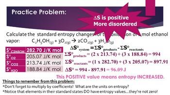 AP Chemistry Entropy & Free Energy Powerpoint