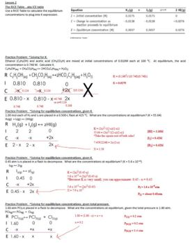 AP Chemistry Equilibrium Guided Notes to go with Powerpoint (with ANSWER KEY)