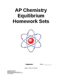 AP Chemistry Equilibrium Worksheets (full answer keys)